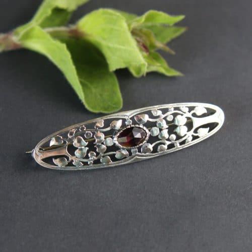 Brosche Silber mit Lebensbaum Motiv