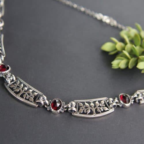 Trachtenkette Lebenbaum Silber