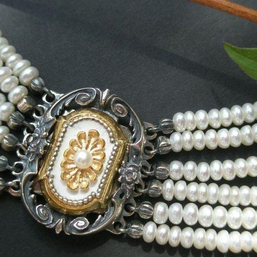 Kropfkette Elisabeth mit Perlen