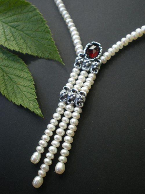 Perlenkette Hanna mit Granat