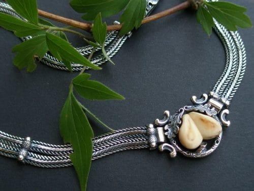 Grandelschmuck Collier aus Silber
