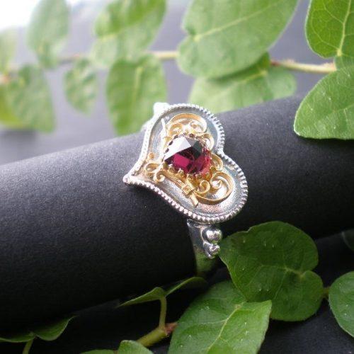 Trachtenschmuck Ring Herz Filigran