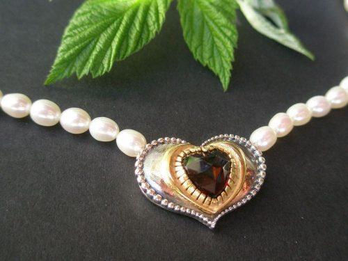 Trachtenschmuck Perlenkette Sophie