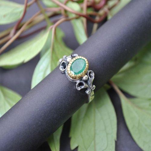 Trachtenschmuck Ring Stefanie Smaragd
