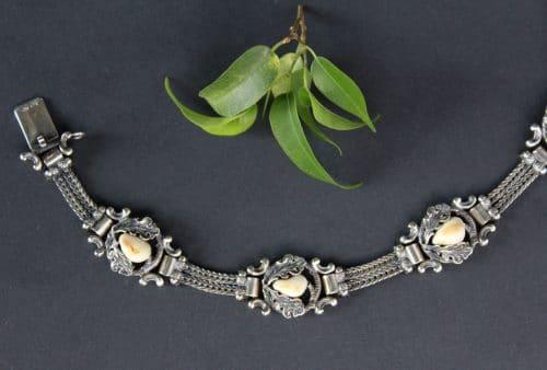 Silbernes Trachtenarmband mit Grandeln