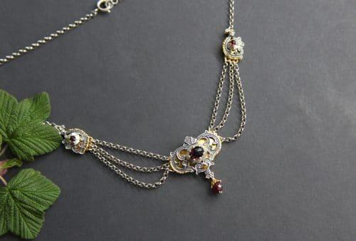 Trachtenkette Silber