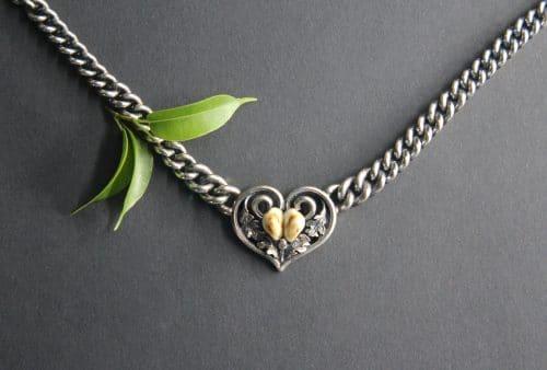 Grandlschmuck Collier Margret in Silber