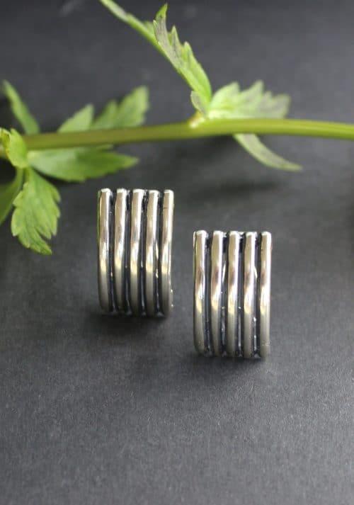 Trachtenschmuck Ohrclips in Silber