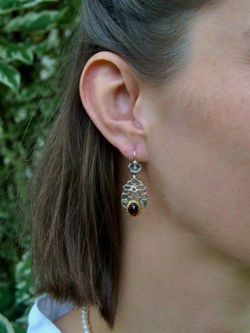Ohrringe zum Dirndl aus Silber