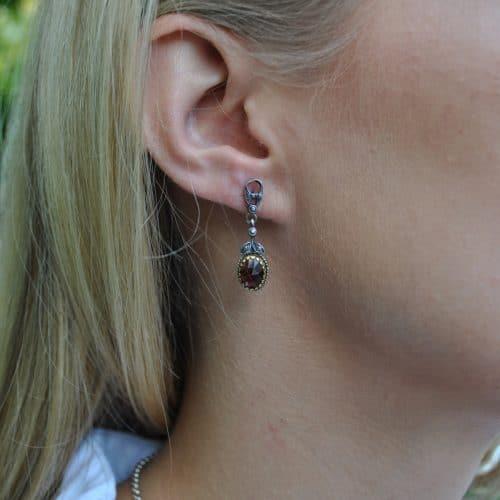 Ohrringe hängend zum Dirndl aus Silber
