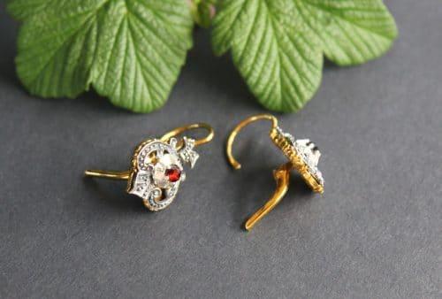 Trachtenschmuck Ohrringe in Silber, seitliche Ansicht