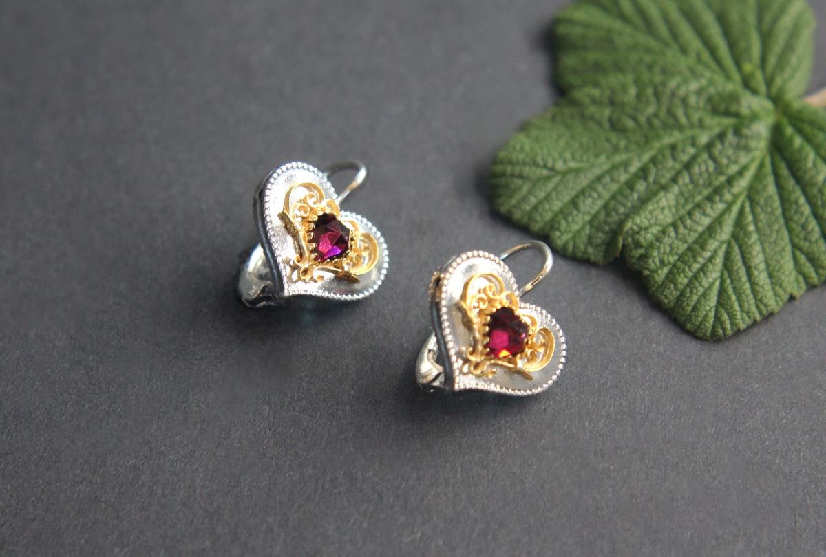 Shop für echte Großbritannien moderne Techniken Ohrringe Herz