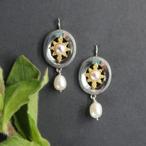 Trachtenschmuck Ohrschmuck mit Perle