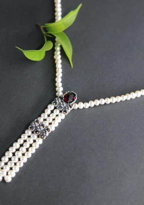 Perlenkette Hanna seitliche Ansicht