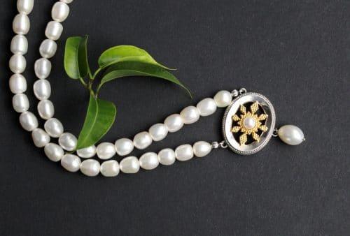 Dirndlschmuck Perlenkette Stern