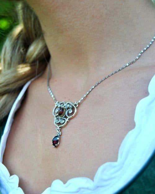 Silberkette Larissa Granat