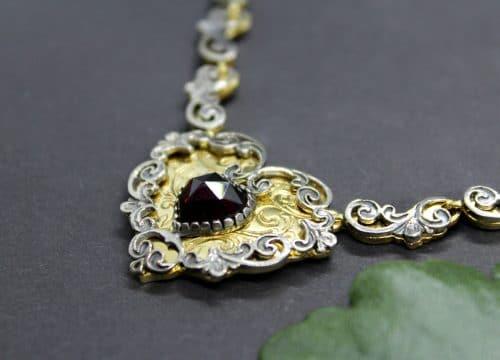 Trachtenkette in Silber und Silber vergoldet