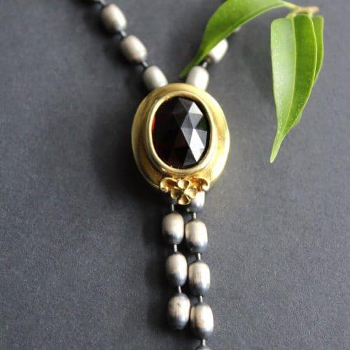 Trachtenkette Silber und Granat