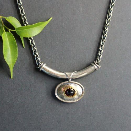 Trachtenschmuck Silber: Trachtenkette Mariella mit Granat