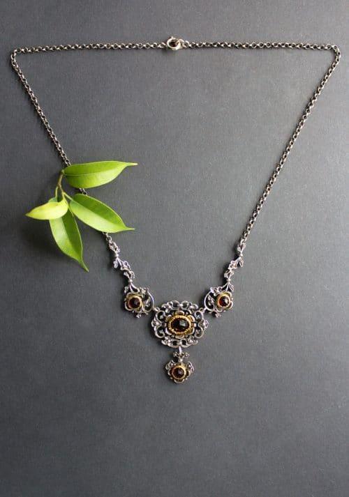 Trachtenschmuck Halskette in Silber, Anna Granat