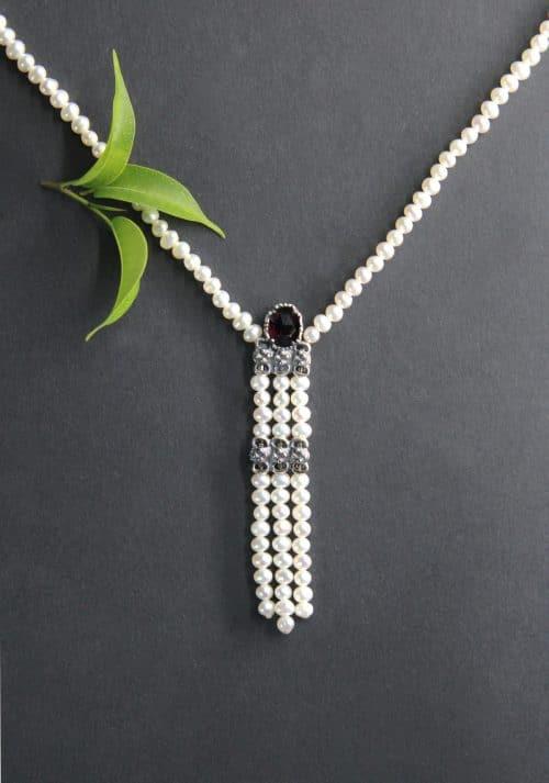 Trachtenschmuck Perlenkette Hanna