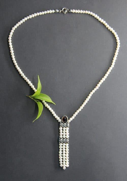 Trachtenschmuck Perlenkette Hanna volle Ansicht
