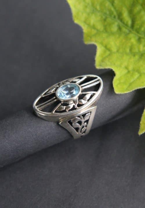 Trachtenschmuck Ring in Silber seitliche Ansicht