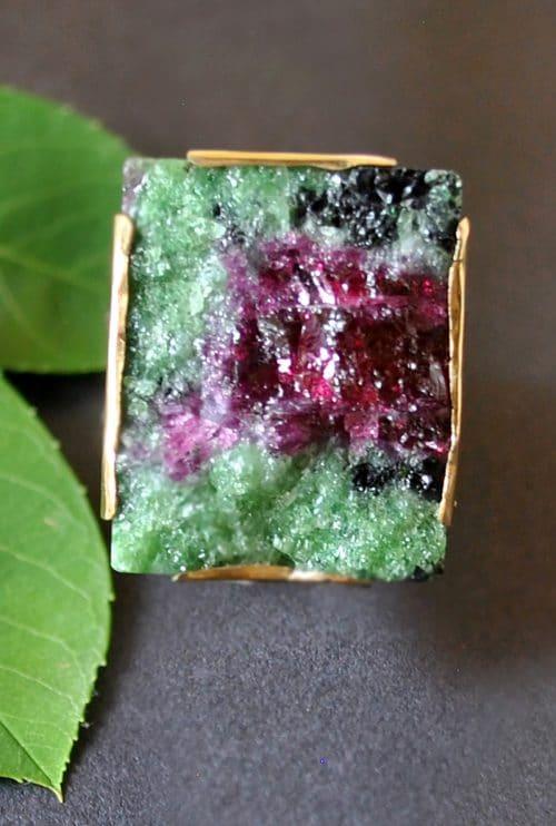 Unikat Ring Rubin-Zoisit aus Tansania