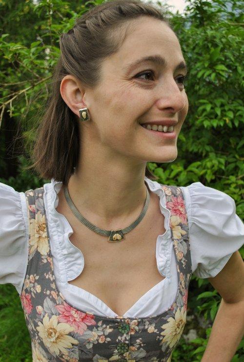 Grandelschmuck Set Emilia aus Silber verziert mit Grandeln
