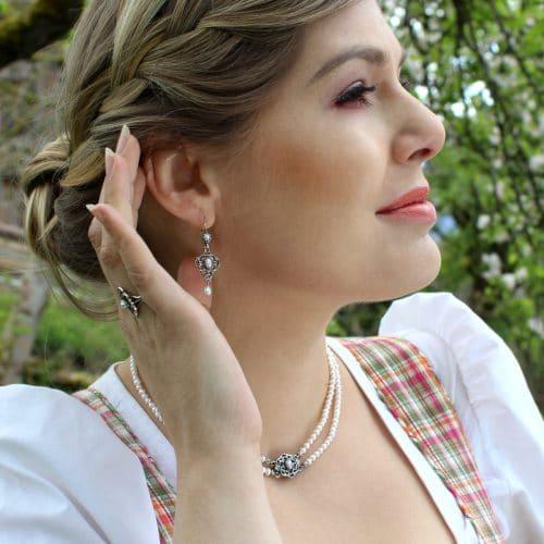 Trachten Schmuckset für Damen mit Perlen