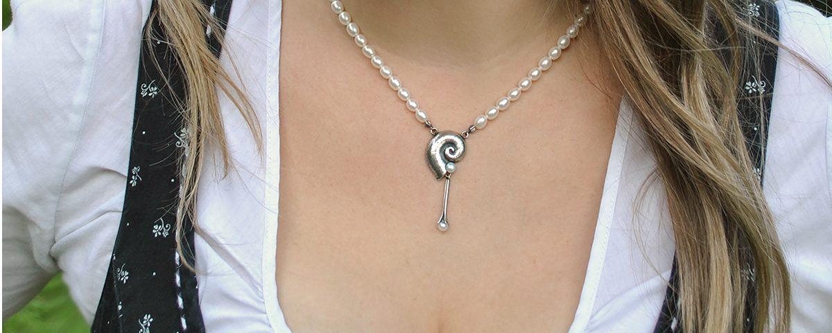 Trachtiger Sommerschmuck Perlenkette Cecilia