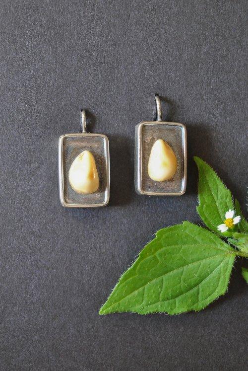 Silberne Ohrringe mit Grandel Jagdschmuck