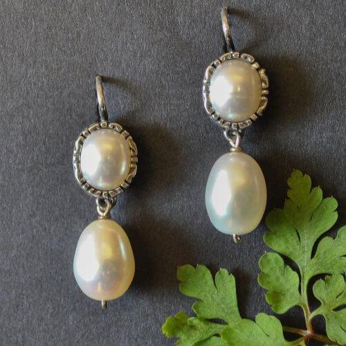 Trachtenohrringe mit Perlen