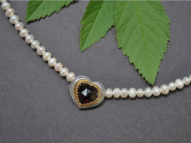 Dirndlschmuck mit Perlen: Schmuckset Rita