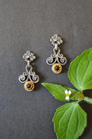 Trachtenschmuck Ohrringe aus Silber in filigraner Handarbeit