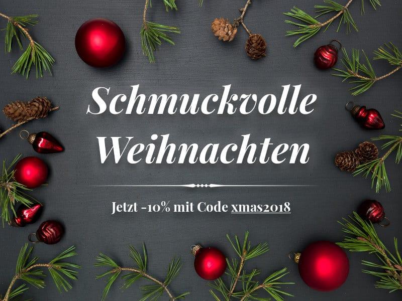 10 Prozent Weihnachtsaktion bis zum 16.12.2018 auf Ihren Online-Einkauf