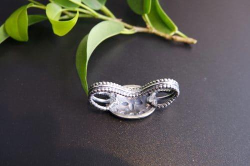 Silberner Trachten Krawattenring