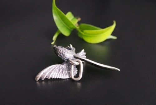 Anhänger Adler für Uhrenkette in Silber hintere Ansicht