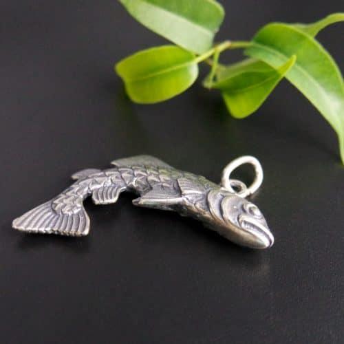 Uhrenkette Anhänger in Silber Motiv Fisch