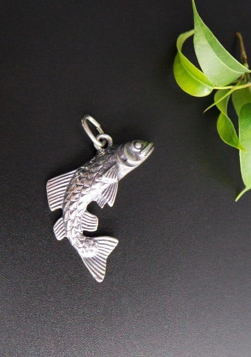 Uhrenkette Anhänger in Silber, Fisch
