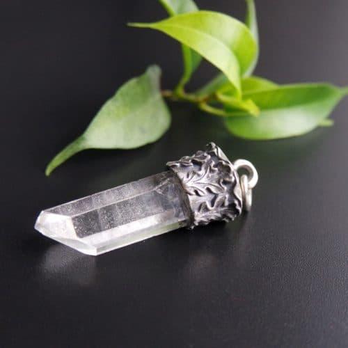 Trachten Anhänger für Uhrenkette oder Charivari Kette Bergkristall