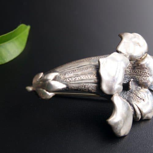 Brosche Enzian Silber