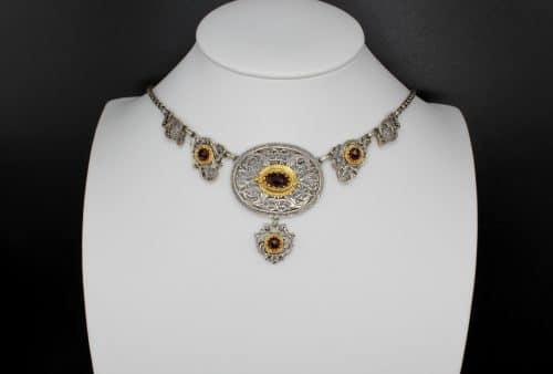 Silberschmuck Trachtenschmuck: Collier Brunhilde