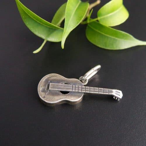 Anhänger Silber für Uhrkette, Motiv Gitarre