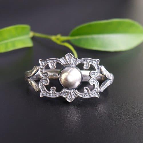 Trachtiger Krawattenring Laurenz in Silber