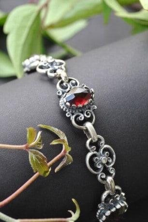 Schönes Trachtenschmuck Armband in Silber mit traditionellen Trachtenmuster