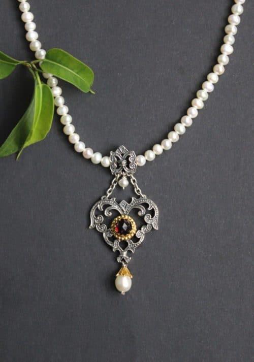 Trachtenschmuck Damen Perlenkette Flora