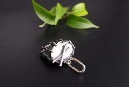 Anhänger für Uhrenkette in Silber, Motiv Trommel