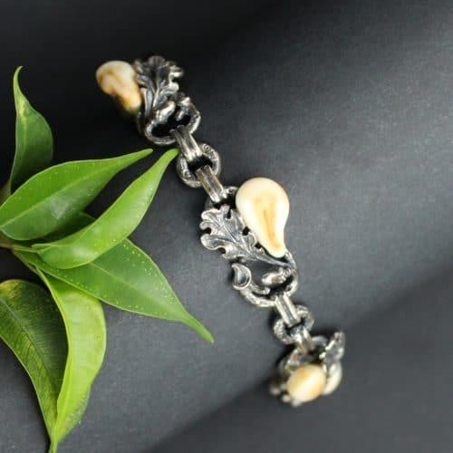 Jagdschmuck Grandlschmuck Armband Ricarda in Silber