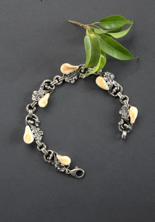 Klassisches Jagdschmuck Armband in Silber für Damen